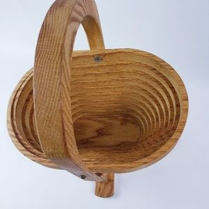Collapsible Wooden Basket